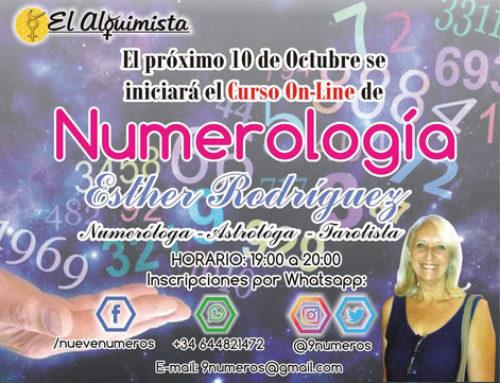¡NUEVO CURSO DE NUMEROLOGÍA ONLINE  A PARTIR DEL 10/10!
